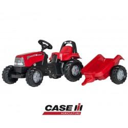 Rolly Toys traktor na pedały Case Kid z przyczepką