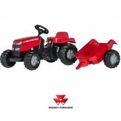 Rolly Toys Traktor na pedały Massey Ferguson z przyczepką
