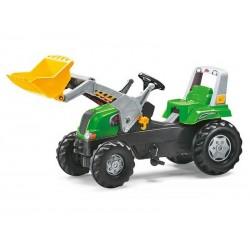 Rolly Toys Duży Traktor z Łyżką regulowane siedzenie Nakładki na Koła