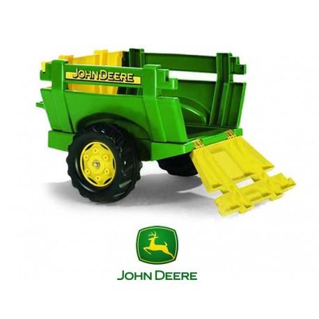 Rolly Toys Przyczepa Farm JOHN DEERE Zielona
