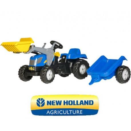 Rolly Toys Kid Traktor lic. New Holland z łyżką i przyczepą
