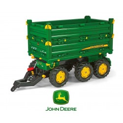 Rolly Toys Przyczepa Rolly Multi John Deere trzyosiowa zielona