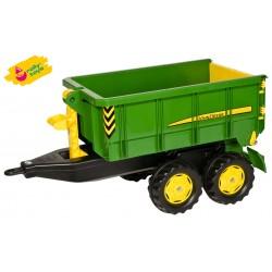 Rolly Toys duża Dwuosiowa Przyczepa John Deere Wywrotka