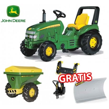 ZESTAW Rolly Toys X-Trac John Deere + Piaskarka + Pług Śnieżny GRATIS
