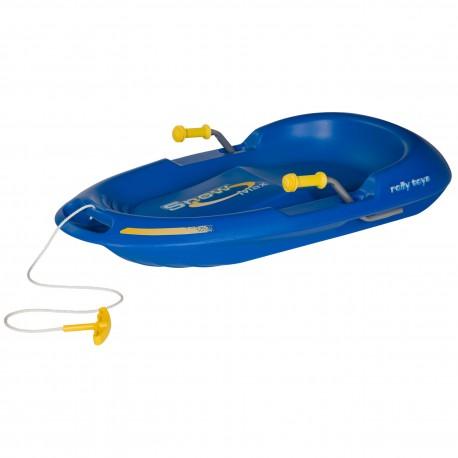 Niebieskie sanki Rolly Toys Snow Max z hamulcem ręcznym