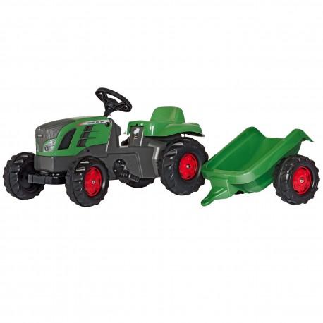 RollyToys rollyKid Duży Traktor na Pedały FENDT Przyczepa