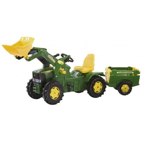 Rolly Toys Trktor FarmTrac John Deere z łyżką i przyczepką