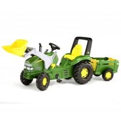 Traktor na pedały rollyX-Trac John Deere z łyżką i przyczepką