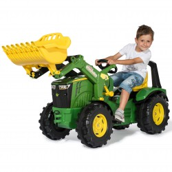 John Deere Traktor na Pedały Łyżka Ciche Koła 3-10 Lat do 50kg