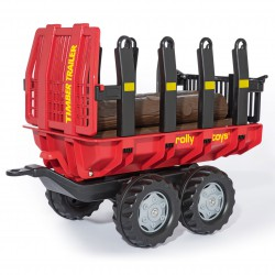 Rolly Toys rollyTrailer Przyczepa wywrotka do przewozu drewna + 5 bali